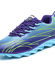 cheap -Women's Athletic Shoes Comfort Light Soles Spring Fall PU Running Shoes Athletic Lace-up Flat Heel Black Orange Purple Green Flat