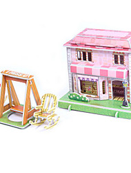 cheap -3D Puzzles Jigsaw Puzzle Paper Model Model Building Kits House Architecture 3D DIY High Quality Paper Classic 6 Years Old and Above