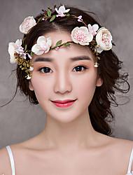 baratos -Tecido Headbands Flores Ferramenta de cabelo 1 Casamento Ocasião Especial Aniversário Parabéns Graduação Festa / Noite Obrigado Casual