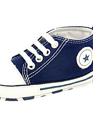 cheap -Girls' Shoes Canvas Spring / Summer Comfort / First Walkers Loafers & Slip-Ons Walking Shoes Lace-up for Green / Pink / Navy