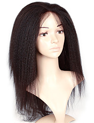 Yaki Kinky Synthetic Lace Front Wig Natural Looking Black Color Wig Afro Women Hairstyle