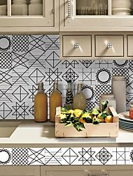 Irregular Pattern Tile Wall Stickers Sitting Room Bedroom Adhesive Waterproof PVC Film