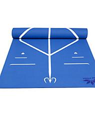 Недорогие -Коврик для фитнеса Противоскользящий TPE Для Бледно-розовый, Лиловый, Морской синий