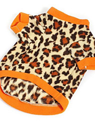 cheap -Dog Vest Dog Clothes Leopard Plush Fabric Costume For Pets Men's / Women's Casual / Daily