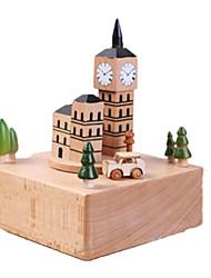 cheap -Music Box Wood Castle Horse Carousel Unisex Gift