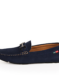 cheap -Men's Loafers & Slip-Ons Comfort Cowhide Spring Fall Casual Office & Career Party & Evening Studded Flat Heel Blue Ruby Gray Flat
