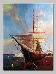 cheap -Big Size Hand Painted Boat Oil Painting On Canvas Modern Wall Art Picture For Home Decoration No Frame