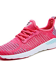 cheap -Women's Athletic Shoe Comfort Light Sole Summer Fall Knit Running Shoe Athletic Casual Outdoor Office & Career Lace-up Flat Heel Light