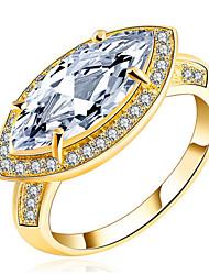 Dámské Široké prsteny Kubický zirkon Přizpůsobeno Luxus Klasické Základní Sexy láska Módní Cute Style Elegantní Zirkon Slitina Bicone