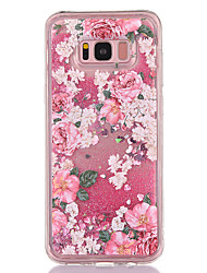 cheap -Case For Samsung Galaxy S8 S8 Plus Case Cover Flower Pattern TPU Material Full Soft Love Flash Powder Quicksand Phone Case For Galaxy S7 S7 Edge
