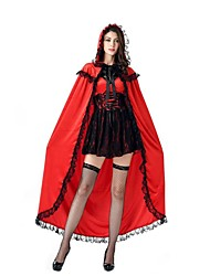 cheap -Fairytale Cosplay Cosplay Costumes Masquerade Female Halloween Carnival Festival / Holiday Halloween Costumes Red+Black Vintage