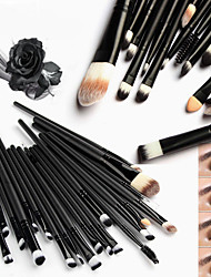cheap -New 20 Pcs Pro Makeup Set Powder Foundation Eyeshadow Eyeliner Lip Cosmetic Brushes