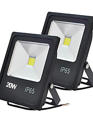cheap -Jiawen 2pcs 20W 2000LM Cool White or Warm White LED Flood Lights Waterproof IP65 for Outdoor Lighting (AC 85-265V)