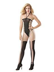 abordables -ropa de dormir elegante de las mujeres& medias sueltas pantimedias pantyhose rayas sexy negro