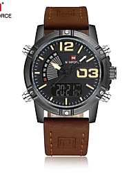 cheap -Men's Sport Watch Dress Watch Fashion Watch Japanese Quartz Calendar / date / day Water Resistant / Water Proof Dual Time Zones Genuine