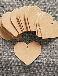 cheap -50pcs Brown Kraft Paper Tag 6.5*5cm/pcs DIY Wedding Favor Beter Gifts® Practical DIY Thank You Tag