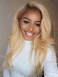 cheap -Human Hair Wig Natural Wave 100% Hand Tied African American Wig Natural Hairline Ombre Hair Short Medium Long 130% Density Women's