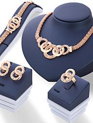 cheap -Women's Jewelry Set - Fashion Include Stud Earrings / Necklace / Bracelet Gold / Silver For Wedding