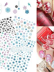 4 Autocollant d'art de clou Motif Noël Produits DIY Autocollant Maquillage cosmétique Nail Art Design