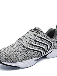 cheap -Running Shoes Men's Athletic Shoes Comfort Knit Spring Fall Athletic Casual Outdoor  Flat Heel Blue Gray Black Flat
