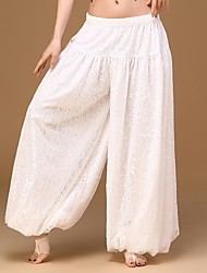 cheap -Belly Dance Women's Performance Spandex Lace 1 Piece Dropped Harem Pants Wide Leg Loose Long Trousers Bloomers