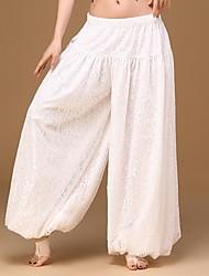 economico -Danza del ventre Per donna Esibizione Elastene Di pizzo 1 pezzo Cadente Pantaloni