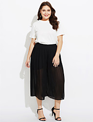 cheap -Women's Casual Loose Wide Leg Shorts Pants - Solid Colored