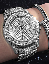 cheap -Women's Quartz Bracelet Watch Chinese Water Resistant / Water Proof / Creative / Imitation Diamond Stainless Steel Band Charm / Sparkle /