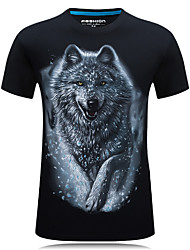 abordables -Tee-shirt Grandes Tailles Homme, Animal - Coton Sports Actif Col Arrondi