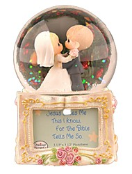 cheap -Balls Music Box Snow Globe Crystal Round DIY Classic Women's Kid's Gift