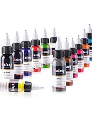 Solong Tattoo New design 14 Basic Colors Tattoo Ink Set Pigment Kit 1oz (30ml) Professional Tattoo Supply TI302-30-14