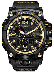 cheap -SMAEL Men's Sport Watch Military Watch Digital Watch Japanese Digital 50 m Water Resistant / Water Proof Calendar / date / day Chronograph PU Silicone Band Analog-Digital Casual Fashion Black / Red