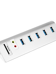 cheap -Rocketek 5 USB Hub USB 3.0 / EU Plug / UK Plug USB 3.0 With Card Reader(s) / Data Hold / Input Protection Data Hub