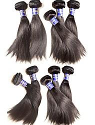 Оптовые шелковые прямые виргинские пучки волос 1kg 10шт много 100% оригинальные перуанские девственные человеческие волосы соткают