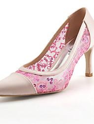 cheap -Women's Wedding Shoes Basic Pump Summer Fall Lace Paillette Breathable Mesh Net Silk Tulle Wedding Dress Party & Evening Stiletto Heel