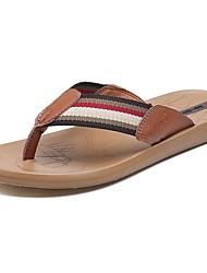 economico -Da uomo Pantofole e infradito Pantofole e flip-flop Pelle Estate Casual Piatto Nero Marrone Piatto