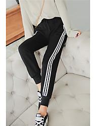 Da donna A vita alta Attivo Anelastico Pantaloni della tuta Pantaloni,Harém A strisce Collage
