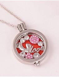 cheap -Women's Locket Shape Love Pendant Necklace Rhinestone Alloy Pendant Necklace Wedding Party Birthday Graduation Gift Daily