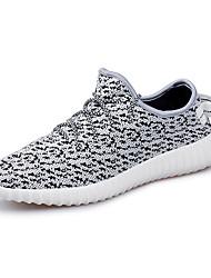 economico -Da uomo Sneakers Comoda Primavera Autunno PU (Poliuretano) Casual Piatto Oro Nero Beige Verde Bianco/nero Piatto