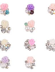 10 Chiodo decorazione di arte strass Perle Cosmetici e trucchi Fantasie design per manicure