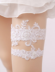 cheap -Lace Wedding Wedding Garter with Imitation Pearl Garters
