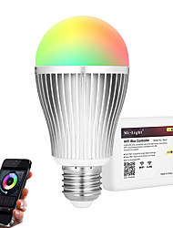 cheap -9W E27 LED Smart Bulbs A60(A19) 20 leds SMD 5730 Infrared Sensor Dimmable Remote-Controlled WIFI APP Control Light Control RGB+White 900