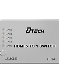 DTech HDMI 1.4 Splitter HDMI 1.4 to HDMI 1.4 Splitter Female - Female 1080P Five Input One Output