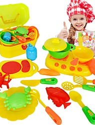 cheap -Toy Kitchen Sets Toy Dishes & Tea Sets Kids' Cooking Appliances Toy Toys Plastics ABS Girls' Boys' Kid's Gift 16pcs