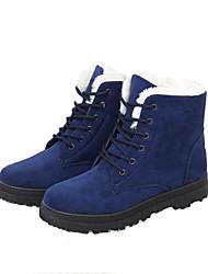 Men's Boots Snow Boots Winter Suede Outdoor Flat Heel Black Ruby Khaki Royal Blue Flat