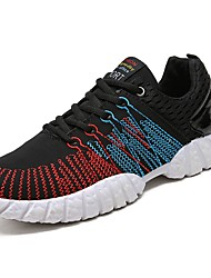 cheap -Men's Shoes Knit PU Tulle Spring Fall Comfort Athletic Shoes Running Shoes Lace-up for Athletic Casual Outdoor Black Gray Red Blue