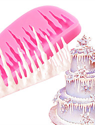 DIY 3D Cold icicle Silicone Cake Mold Fondant Molds Decorating Baking Tools Mould