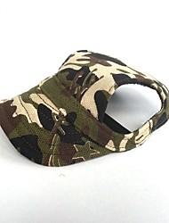 Недорогие -Кошка Собака Банданы и шляпы Одежда для собак Для вечеринки ковбой На каждый день Спорт Сплошной цвет Красный Синий Камуфляж цвета