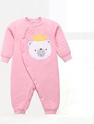 baratos -bebê Para Meninos Peça Única Geométrico Inverno Outono Algodão Verde Rosa Cinzento