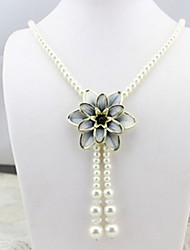 cheap -Women's Single Strand Flower Personalized Floral Unique Design Dangling Style Pendant Classic Basic Petals Imitation Pearl Fashion Cute